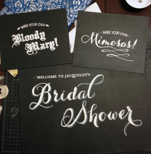 create custom chalk lettering signs